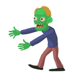 walking zombie icon cartoon style vector image