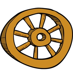 wooden wheel vector image