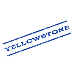 Yellowstone watermark stamp vector
