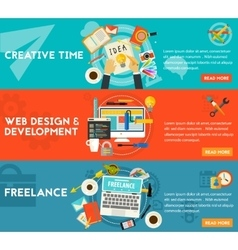 Creative time freelance and web design vector