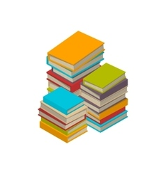 Big set of books tutorials isometric flat vector