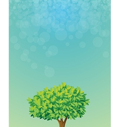 A blue colored stationery with a tree vector image