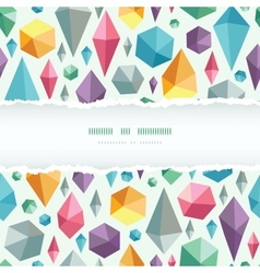 Hanging geometric shapes horizontal torn frame vector