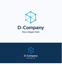 d company logo vector image