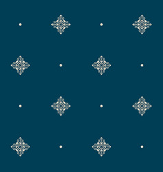 Seamless pattern with tiny knot signs and pearls vector