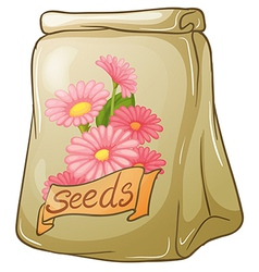 A pack of flower seeds vector image