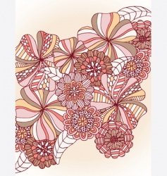 Retro flower cluster vector