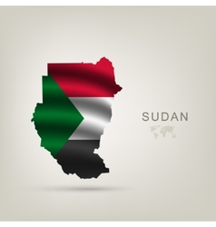 Flag of sudan as the country vector