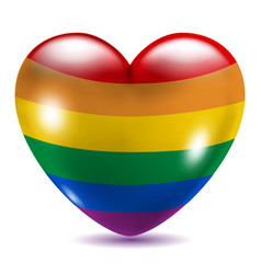Heart shaped gay symbol vector