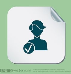 Add friend avatar vector
