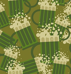 Beer military pattern mug alcohol army texture vector