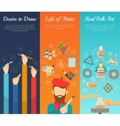 Artist Banner Set vector image