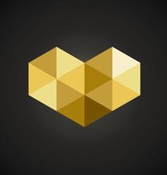 Triangle geometric mosaic heart vector