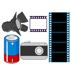 Photography related objects vector