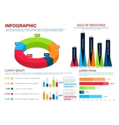 Healthcare medicine pharmacology infographics vector