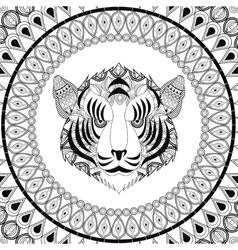 Tiger icon animal and ornamental predator design vector