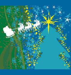 Abstract card with santa vector