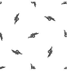 Artillery gun pattern seamless black vector