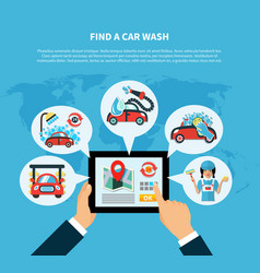 car wash finder concept vector image