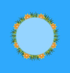 Collection of flower spring frame vector