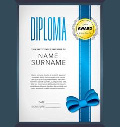 Diploma certificate design template vector