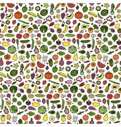 Doodle vegetarian seamless pattern vector
