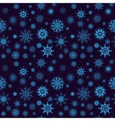 Elegant neon blue snowflakes of various styles vector image vector image