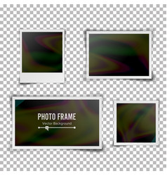 Instant photo frame blank vintage photo vector