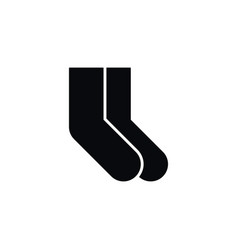 isolated foot textile icon socks element vector image