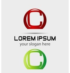 Letter c logo creative concept icon vector