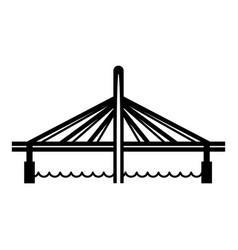millau viaduct bridge icon simple black style vector image