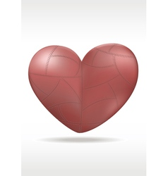 Red Metallic heart vector image vector image