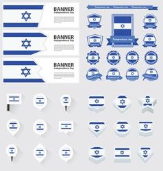 SET israel vector image vector image