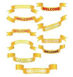 set of welcome banners vector image vector image