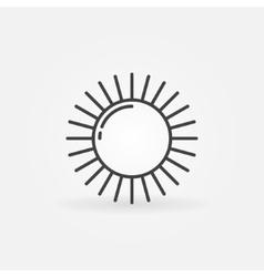 Shiny sun line logo vector