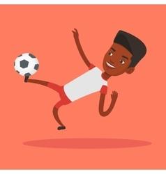 Soccer player kicking ball vector image vector image