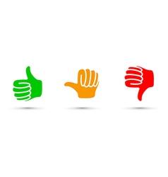 thumbs up down set vector image
