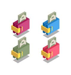 wallet icon symbol vector image vector image