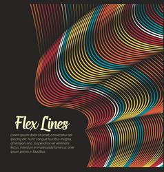 warped lines background flexible vector image vector image