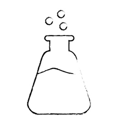 Chemistry flask icon image vector