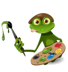 frog painter vector image