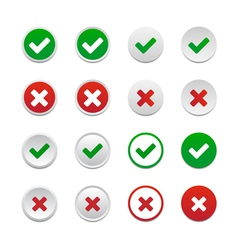 Validation buttons vector image