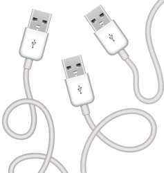 vector USB plugs vector image