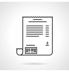 Receipt black line icon vector
