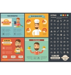 Food flat design infographic template vector