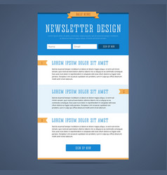 Newsletter page design vector