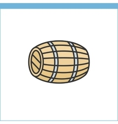 Wood wine cask icon vector