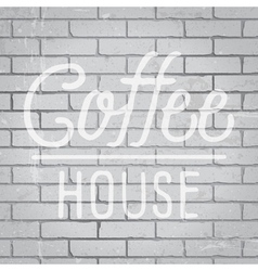 Slogan on grunge gray brick wall vector
