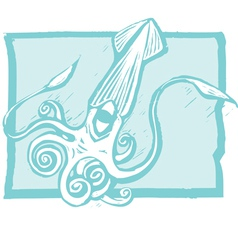 Giant squid vector