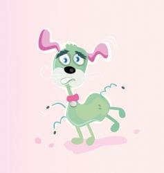 flea dog vector image
